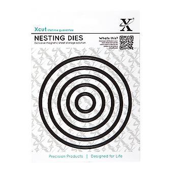 Xcut Nesting Dies (5pcs)-ympyrä (XCU 503416)