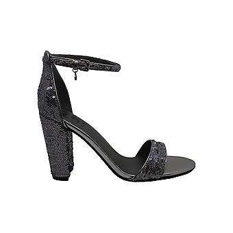 G by Guess Womens SHANTEL11 Fabric Open Toe Special Occasion Ankle Strap Sand...