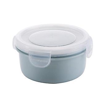 Mini PP szilikon kerek hűtőszekrény tároló doboz kék 10x5.5CM