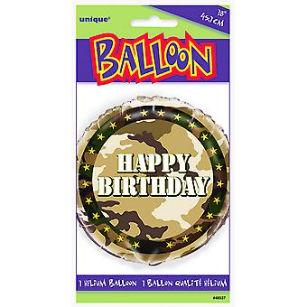 Unique Party 18 Inch Military Camo Birthday Foil Balloon