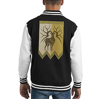 Golden Deer Fire Emblem Tapestry Kid ' s Varsity jacka