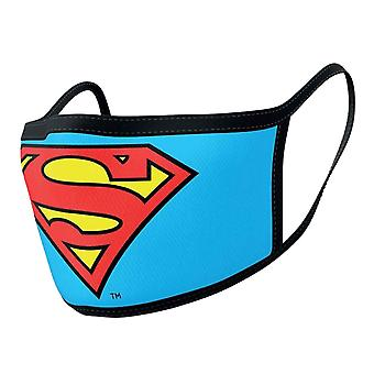 Superman Face mask Logo new Official Blue 2 pack Protective Washable Reusable