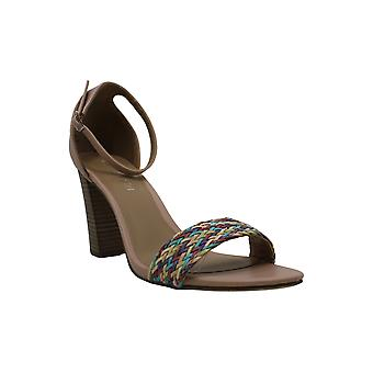 Madden Girl Women's Shoes BEELLA-P Leather Open Toe Casual Ankle Strap Sandals