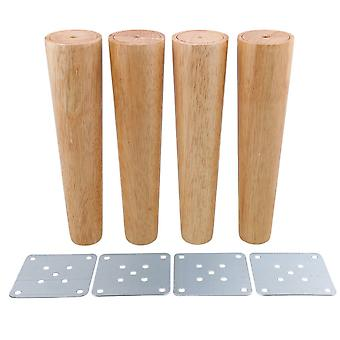 4pcs Wood Furniture Foot Leg Feet 25*6*4cm