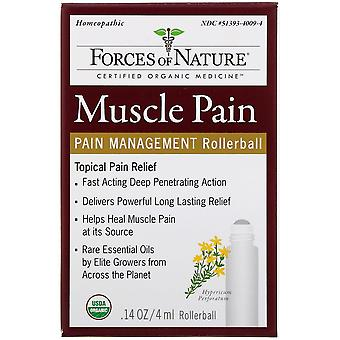 Forces of Nature, Muscle Pain, Pain Management, Rollerball, 0.14 oz (4 ml)