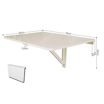 SoBuy Folding Wall-mounted Drop-leaf Table Desk, Wood Kitchen Dining Table Desk, 75x60cm, White, FWT01-W