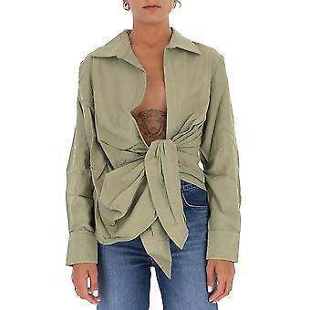Jacquemus 20302203108530 Dames's Groen Viscose Shirt