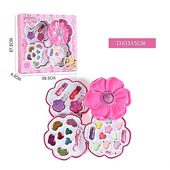 Pretend Play Girls Makeup Tools Kit Safe Non-toxic Make Up Sets Preschool Kids Beauty Safety Toy For Children Girl Makeup