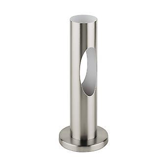1 Lampe de table légère Blanche, Satin Nickel, GU10