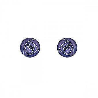 Sea Gems Mackintosh Stud Earrings - Purple 7670p