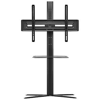 Solid TV Stand with Media Shelf for Screen Size for 32-65 inch - Black (WM4672)