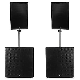 Big gig rig 11 - passive 4200w rms 15 tops and 21 subwoofer pa system
