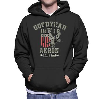 Goodyear Akron Flyga med Eagles Män's Hooded Sweatshirt