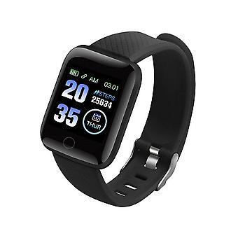 Bluetooth Blood Pressure Round Smartwatch Femmes / hommes, Waterproof Sport Tracker