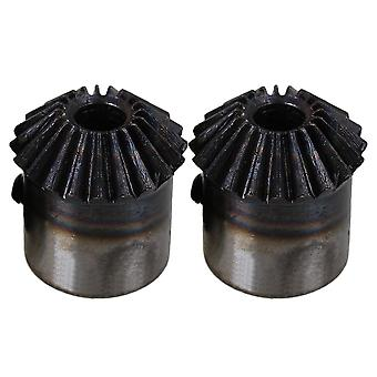 2pcs 20 Denti Acciaio 1 Modulo Top Viti Tapered Bevel Gear Wheel 6mm Foro
