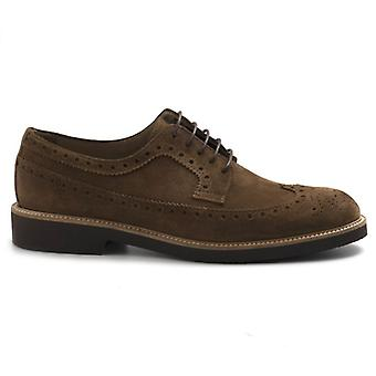 Jerold Wilton Brown Suede Lace-up Shoe