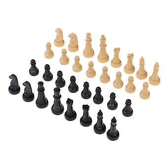 32 Pieces Plastic International Chess Set- Classic Standard Pieces For Chess