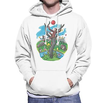 Curious George In A Tree At The Zoo Men's Hooded Sweatshirt