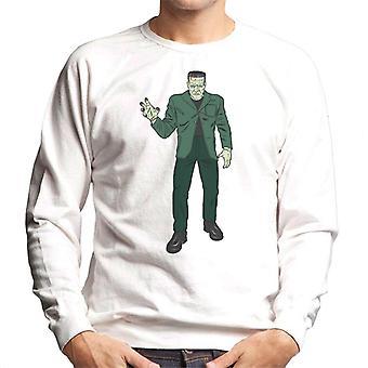 Frankenstein Monster Pose Illustration Men's Sweatshirt