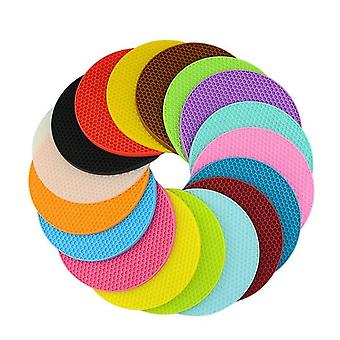 Round Heat Resistant Silicone Non Slip Pot Holder Or Mat Used For Place The Hot