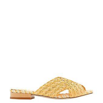 Paloma Barceló Kristenbraidedrmoustard Women's Orange Canvas Sandals