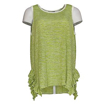 DG2 por Diane Gilman Women's Top Green Striped Tank Polyester 723-674