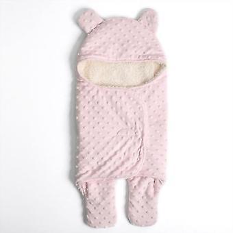 Carrinho de bebê recém-nascido cobertura beanie cama colcha swaddling wrap bebê berço