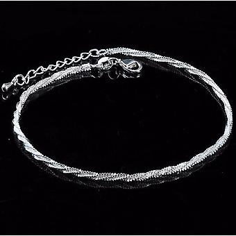 Anklet, Bracelet On The Leg Fashion Plated Rotate Chian Beach Anklet