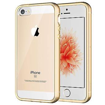 Jetech case for apple iphone se 2016 (not for 2020), iphone 5s and iphone 5, shockproof bumper cover wom41193