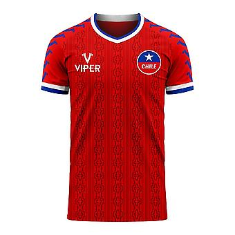 Chile 2020-2021 Home Concept Football Kit (Viper)