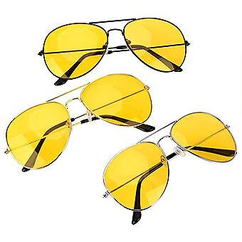 Sunglasses  Copper Alloy Car Drivers Night Vision Goggles Polarized Driving