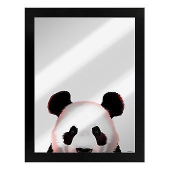 Inquisitive Creatures Panda Mirrored Plaque