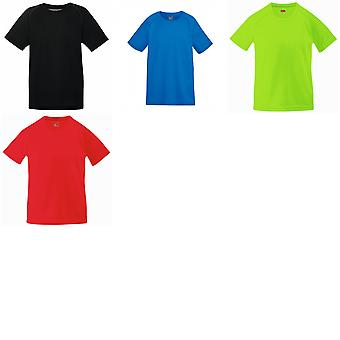 Fruit Of The Loom Childrens Unisex Performance Sportswear T-Shirt (Pack of 2)