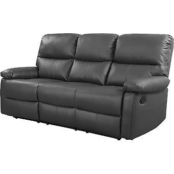 """Sofá reclinable 3 plazas """"Lincoln"""" - Topo"""