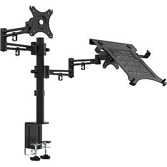 "Bramley Power Dual Monitor Screen Desk Mount Arm Double VESA Bracket for 13"" to 32"" Computer Display"