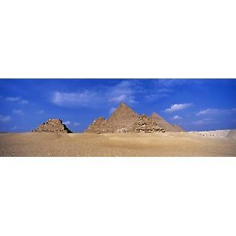 Great Pyramids Giza Egypt Poster Print