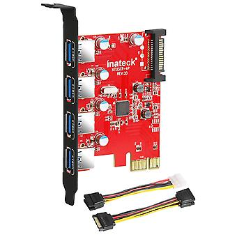 Inateck superspeed 4 ports pci-e to usb 3.0 expansion card - interface usb 3.0 4-port express card d