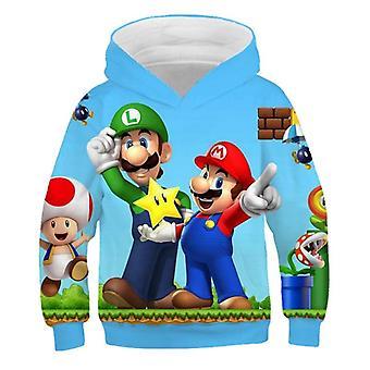 vanlig mote 3d print myk hettegenser tegneserie klær hette sweatshirt