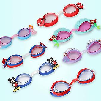 دائمة سيليكون الكرتون نظارات السباحة، والأطفال، والطفل، Goggles، ومكافحة الضباب،