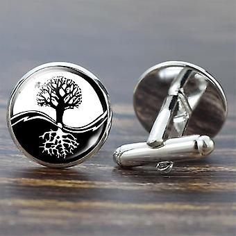 Tree Of Life Cufflinks, Best Cuff Links Set Wedding Suit Shirt Men's