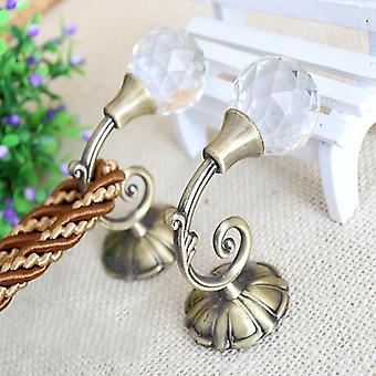 1 Pair Small Hanging Hook Hollow Curtain Tieback