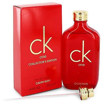 CK een Eau de toilette spray (unisex Red collector ' s Edition) door Calvin Klein 3,3 oz Eau de toilette spray