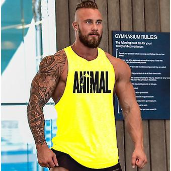Bumbac Sleeveless Tank Top Fitness Musculare Shirt Culturism Antrenament Gym Vest