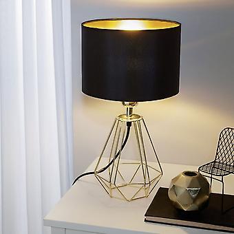 Eglo Carlton 2 Messing Zwart & Goud Tafellamp