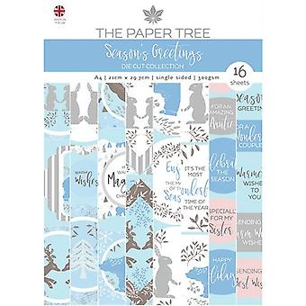 The Paper Tree - Seasons Greetings Collection - A4 Die Cut Sheets