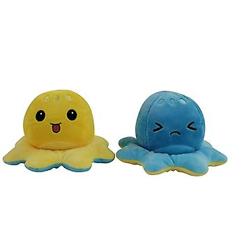 New Cute Double Sided Flip Soft Mood Angry Happy Plush Stuffed Doll