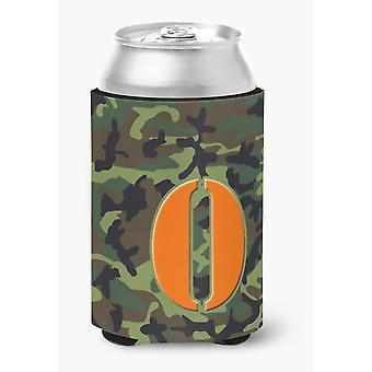 Buchstabe O anfängliche Monogramm - Camo-Green kann oder Flasche Getränk Isolator Hugger