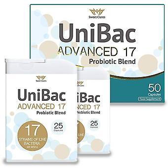 Sweet Cures UniBac Advanced 17 Probiotic Blend Caps 50