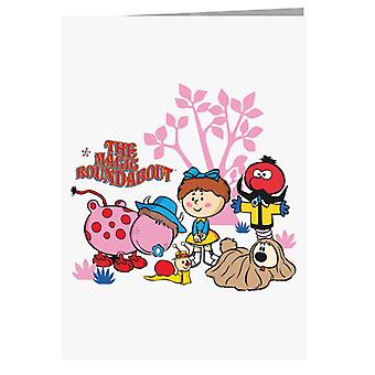 The Magic Roundabout Retro Cartoon Style Greeting Card