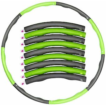 7 Knots Fitness Hoop Green Removable Yoga Hoop Waist Exercise Slimming Sport Hoop
